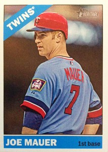 2015 Topps Heritage Throwback Variation Joe Mauer