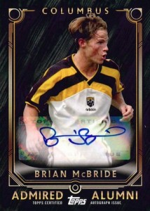2015 Topps MLS Major League Soccer Admired Alumni Autographs McBride