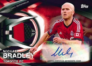 2015 Topps MLS Major League Soccer Autographed Relics Michael Bradley
