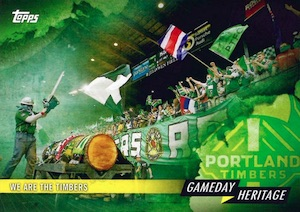 2015 Topps MLS Major League Soccer Gameday Heritage Portland Timbers