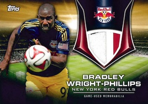2015 Topps MLS Major League Soccer Kits of the Game Relics Bradley Wright-Phillips