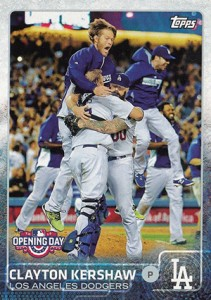2015 Topps Opening Day Variation 40 Clayton Kershaw