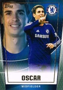 2015 Topps Premier Club Soccer Base Oscar
