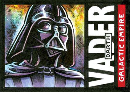 2015 Topps Star Wars Masterwork Sketch Card - Crosby Darth Vader 1985 FB