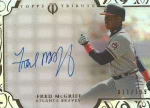 2015 Topps Tribute Baseball Autographs Fred McGriff