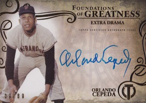 2015 Topps Tribute Baseball Foudnations of Greatness Autographs