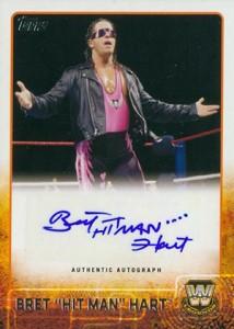 2015 Topps WWE Autographs Bret Hart