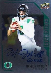 2015 Upper Deck Inscriptions Football Silver Marcus Mariota