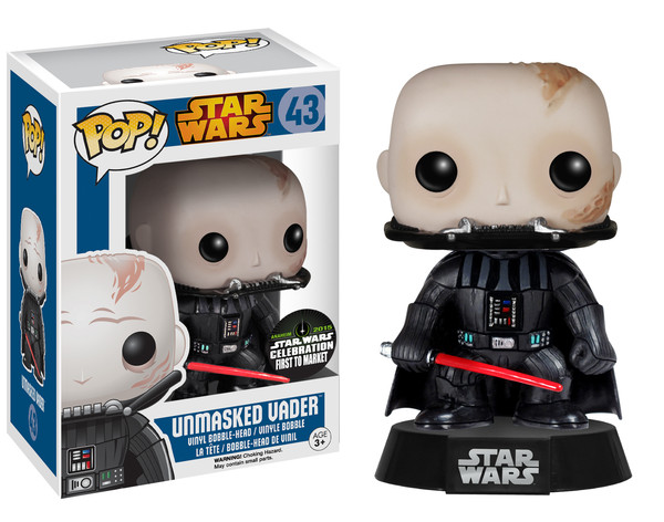 Funko Pop Star Wars 43 Unmasked Vader SW Celebration