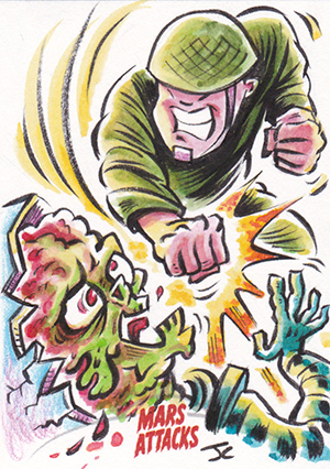 Mars Attacks Invasion Jason Crosby Sketch Card