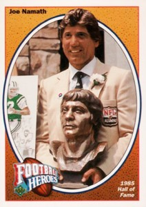 1991 Upper Deck Football Football Heroes Joe Namath