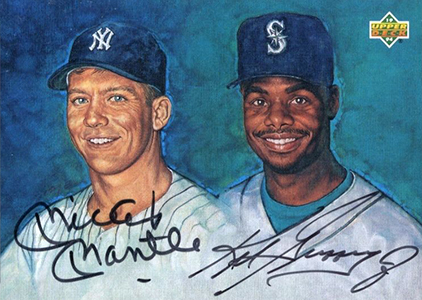1994 Upper Deck Baseball Autographs Mickey Mantle Ken Griffey Jr