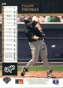 1994 Upper Deck Baseball Base 300 Frank Thomas Back