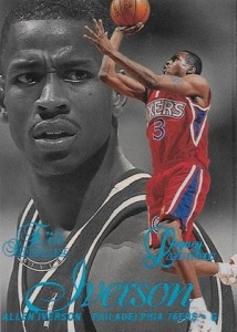 1996-97 Flair Showcase Legacy Collection Allen Iverson RC #3 Row 2