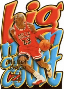 1996-97 Skybox Z-Force Basketball Big Men on Court Michael Jordan
