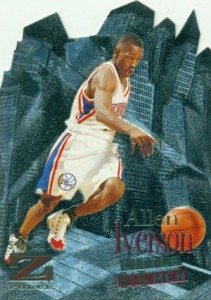 1996-97 Skybox Z-Force Basketball Little Big Men Allen Iverson