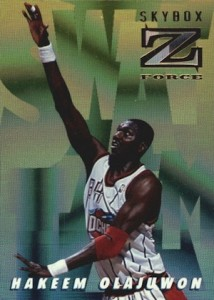 1996-97 Skybox Z-Force Basketball Swat Team Hakeem Olajuwon
