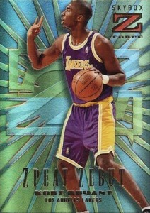 1996-97 Skybox Z-Force Basketball Zebut ZPeat Kobe Bryant