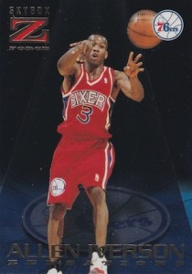 1996-97 Skybox Z-Force Basketball Zensations Allen Iverson
