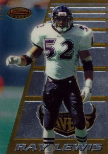1996 Bowman's Best Football Base Ray Lewis RC