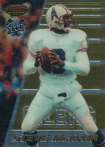 1996 Bowman's Best Football Base Super Bowl Parallel Steve McNair