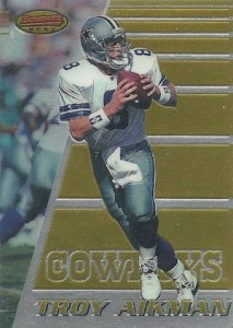 1996 Bowman's Best Football Base Troy Aikman