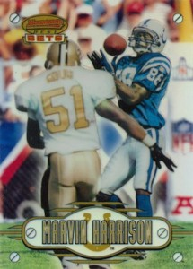1996 Bowman's Best Football Bets Refractor Marvin Harrison