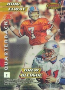 1996 Bowman's Best Football Mirror Images Refractor Back