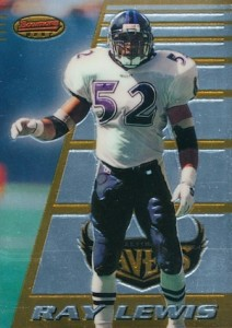 1996 Bowman's Best Ray Lewis #164 RC