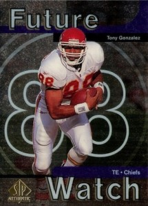1997 SP Authentic Tony Gonzalez RC #11