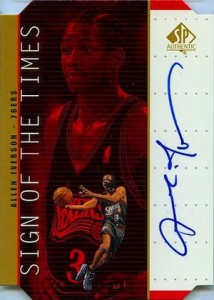1998-99 SP Authentic Sign of the Times Gold Allen Iverson #AI