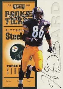 1998 Playoff Contenders Rookie Ticket Autograph Hines Ward #94