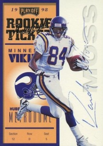 1998 Playoff Contenders Rookie Ticket Autograph Randy Moss #92