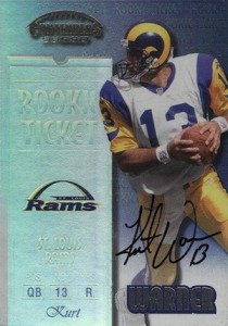 1999 Playoff Contenders SSD Rookie Ticket Autograph Kurt Warner #146