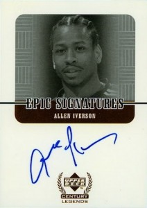 1999 Upper Deck Century Legends Epic Signatures Allen Iverson #AI
