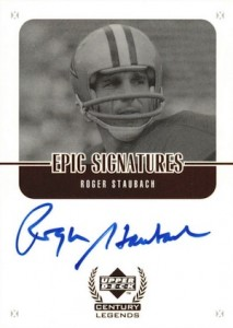 1999 Upper Deck Century Legends Epic Signatures Roger Staubach #RS