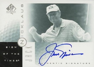 2001 SP Authentic Sign of the Times Jack Nicklaus #JN