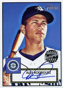 2001 Topps Heritage Autographs Alex Rodriguez