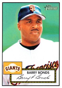 2001 Topps Heritage Base Barry Bonds