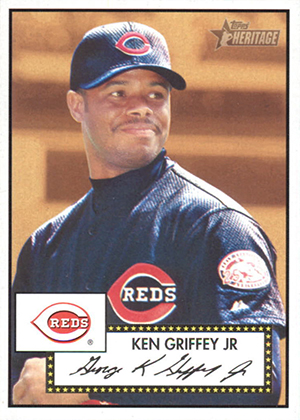 2001 Topps Heritage Baseball Base Ken Griffey Jr