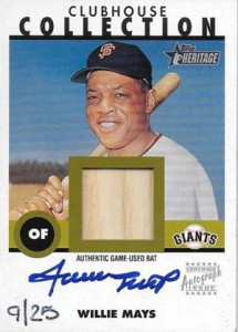 2001 Topps Heritage Clubhouse Collection Autograph Willie Mays