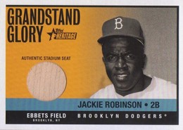2001 Topps Heritage Grandstand Glory Jackie Robinson