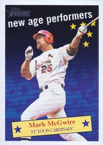 2001 Topps Heritage New Age Performers Mark McGwire