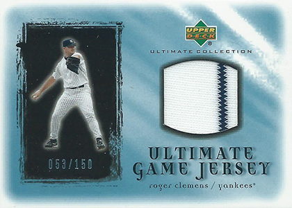 2001 Upper Deck Ultimate Collection Game Jersey