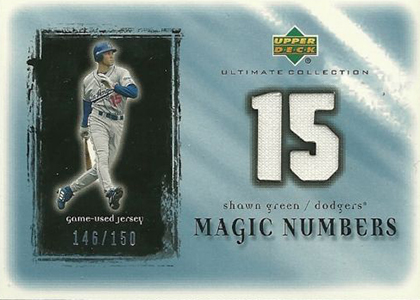 2001 Upper Deck Ultimate Collection Magic Numbers Jersey