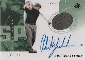 2002 SP Game Used Phil Mickelson RC #80 Autograph Shirt