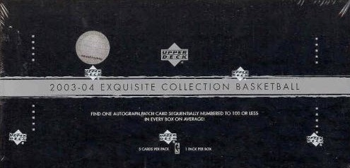 2003-04 Upper Deck Exquisite Collection Basketball Cards 1