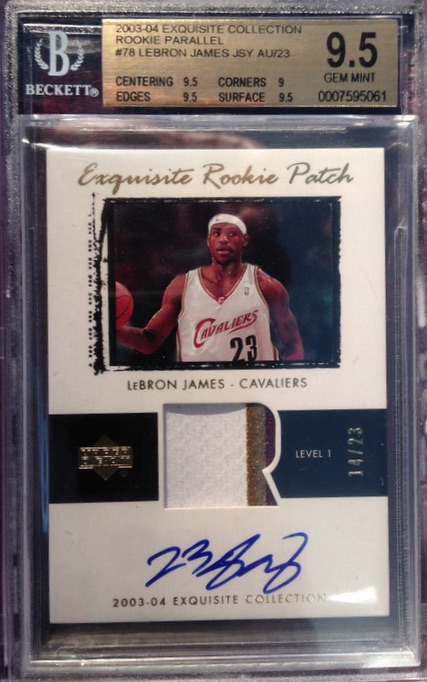 2003 04 Exquisite Lebron James Rookie Card Sale 95000