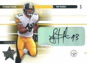 2003 Leaf Rookies and Stars Rookie Autographs Troy Polamalu
