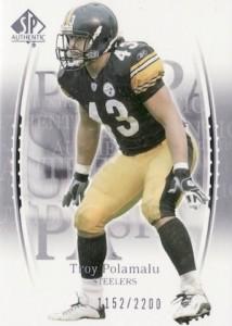 2003 SP Authentic Troy Polamalu RC #120